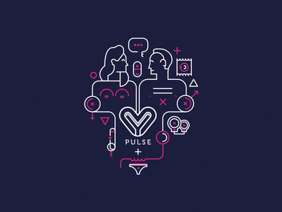 Pulse typography graphic design illustration vector iconography icon logotype brand design branding brand logo design logo