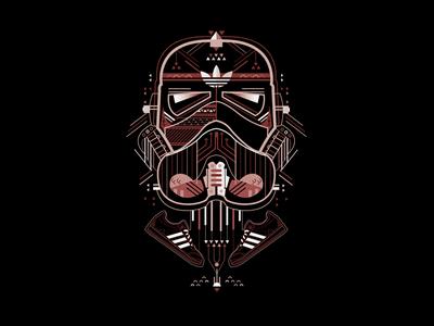 Star Wars x Adidas adidas digital modern apparel graphic digitalart art petros afshar brand design logo design digital art design brand iconography icon logo branding illustration graphic design vector