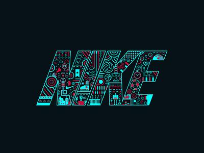 Nike digital art font graphic digitalart logotype petros afshar brand design logo design digital art design brand iconography icon typography logo branding illustration graphic design vector