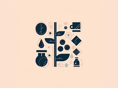 Ground   Cold Brew coffee lineart modern digital art digitalart brand design logo design digital art graphic design brand iconography icon typography logo branding vector illustration graphic design