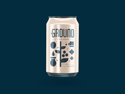 Ground   Cold Brew modern font logomark logotype graphic brand design logo design design iconography icon typography logo branding vector illustration brand coffee cold brew packaging graphic design