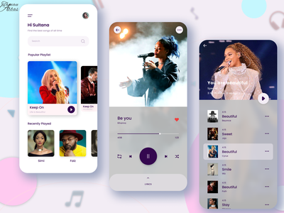 music app musician music player user interface design userinterface user experience music app uiuxdesigner uiux design app ui ux