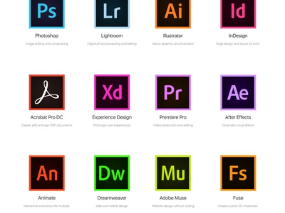 Adobe icon CC 2015 Free psd ios flat adobe muse after effects illustrator lightroom photoshop adobe free icons icon