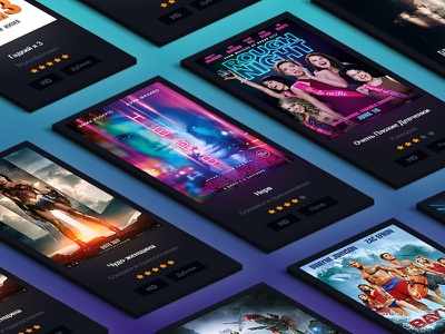 Films card – Kinogo Redesign concept webdesign interface user card movie kinogo interaction icons films cinema