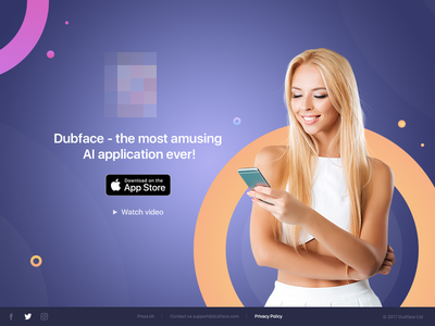 Main screen Dubface app minimalism social ios color flat material graphicdesign webdesign ux ui app