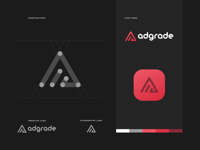 Adgrade – logo style ios flat simple lettering type identity branding graphic  design logo sketch logo