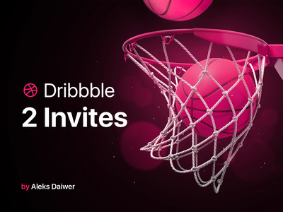 Invites Dribbble design pink colors balls freebies free dribbble invite invites