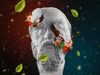 Socrates Art illustration 3d graphic design post instagram creative poster photoshop digital art