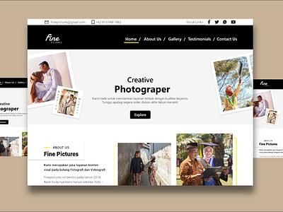 Photography Website webdesign business ui illustration design app