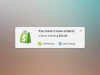 Shopify Order Widget