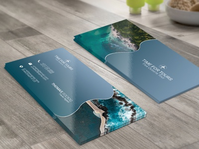 Travel Business Card beach traveling travel agency booking hotel presentation holiday go tour business card travel tour