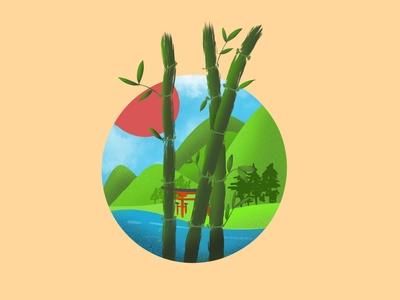 Bamboo and scene