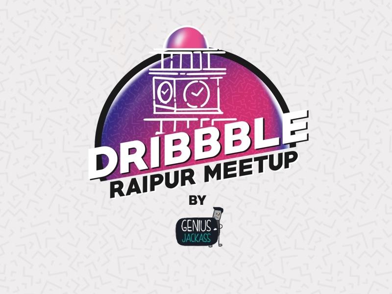 Dribbble Raipur dribbble dribbblemeetups dribbblemeetup procreate genius jackass graphic illustration design