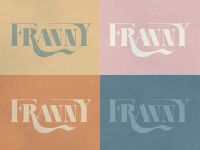 Franny Logo/Color Studies