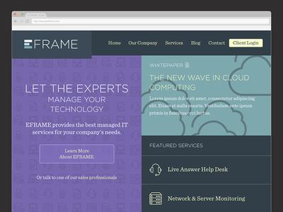 EFRAME Homepage managed it homepage