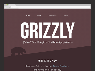 Simplifying Grizzly website grizzly branding