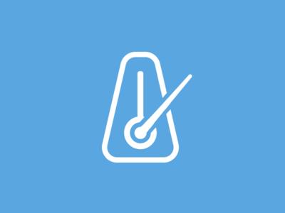 Rhythm mobile app web app logo
