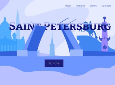 Saint Petersburg concept russia saint petersburg traveling trip tour travel website design website web vector design landing page landing landing page design