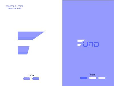 f letter-fund logo company custom wordmark lettermark creative typography branding minimalist logo f letter