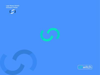 SWITCH LOGO custom company lettermark wordmark creative typography branding minimalist logo