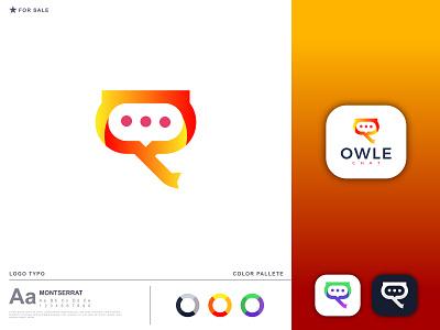 chat logo-owle chat logo design modern minimalist modern minimal minimal chat icon logotype logomark branding design brand design branding identity wordmark lettermark custom logo brand logo branding logo minimalist