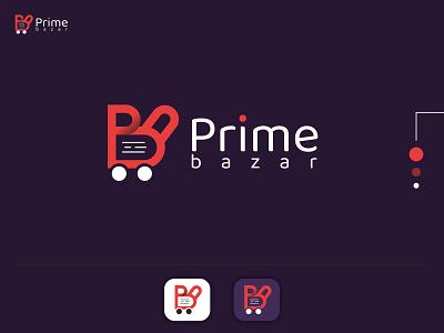 p + b eCommerce logo-prime bazar ecommerce logo business logo logos logo design logotypes bran logos wordmark lettermark custom logo brand logo branding minimalist logo
