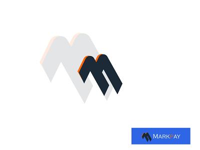 Payment logo- Markpay | M logo | Branding brand logos branding identity logomark payment logo m letter logo m logo wordmark custom logo lettermark brand logo branding logo minimalist