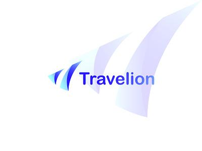 Technology logo-Travelion | Branding logomark logo design logo-design brand identity illustration graphic design minimal print branding logo modern tech logo tech travel travel tech tech logo