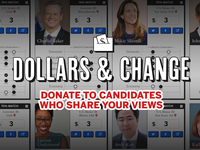 Candidates by the Issues: Dollars & Change