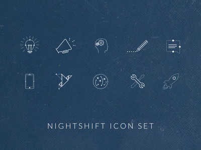 Night Shift Icon Set
