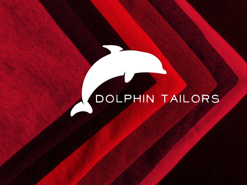 dolphin tailors logo luxury design business card design minimal typography logo illustrator illustration graphic design design branding