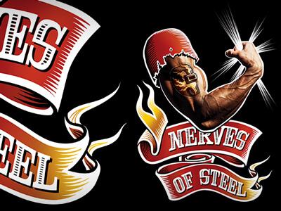 Nerves of Steel t-shirt art illustration digital vector bitmap t-shirt banner arm welding