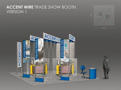 Accentwire Tradeshow Booth 01 sketch design booth trade show