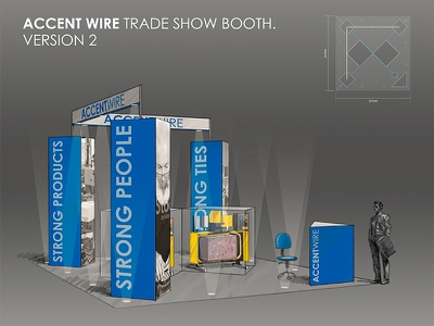 Accentwire Tradeshow Booth 02 sketch design booth trade show