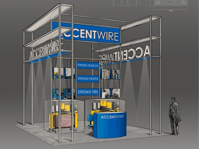 Accentwire Tradeshow Booth 03 sketch design booth trade show