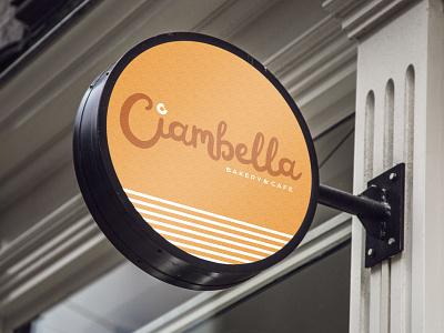 Ciambella Signage script graphic signage logodesign logo