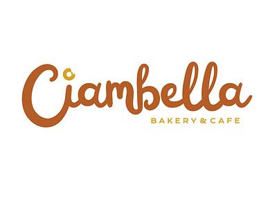 Ciambella Logo bakerylogo donut script logotype graphicdesign cafe logodesign logo