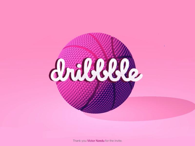 Hello Dribbble graphic design lettering design 3d illustration