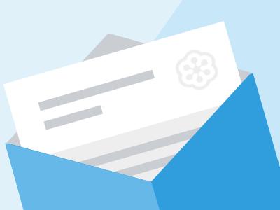 A study of envelope colors graphic blue invite envelope
