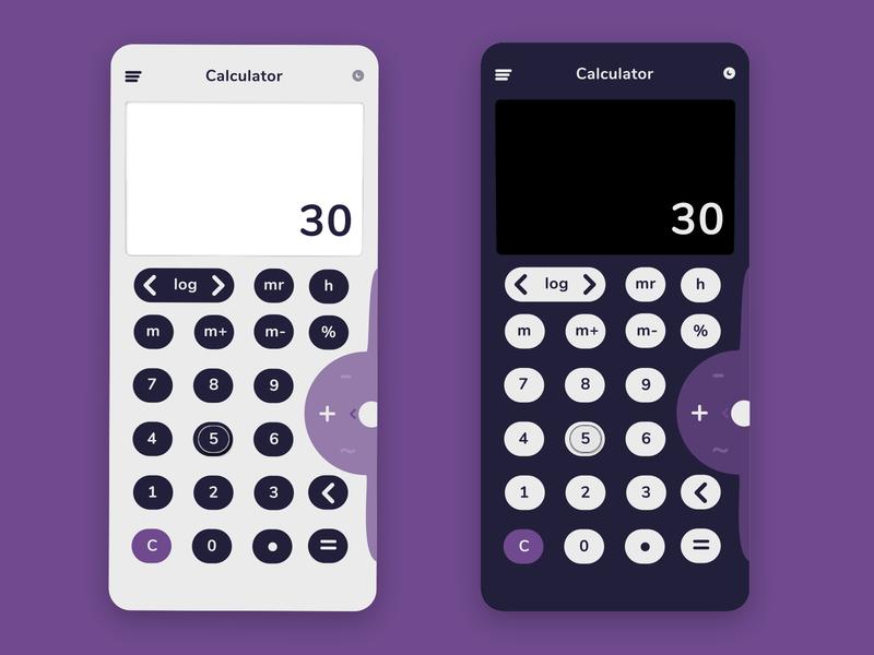 Calculator ui ux design dailyuichallenge app figmadesign