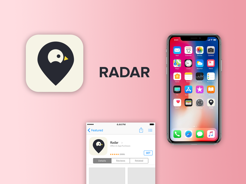 Radar - App icon illustrator photoshop vector logo design illustration dailyuichallenge app