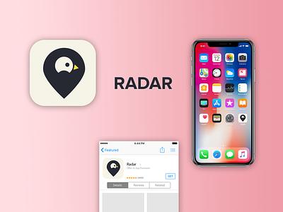 Radar - App icon illustrator photoshop vector logo design illustration dailyuichallenge app