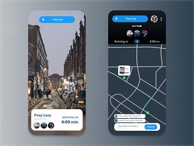 Location tracker figmadesign after effects ui ux app design dailyuichallenge
