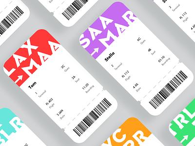 Boarding Pass illustrator figmadesign app design dailyuichallenge
