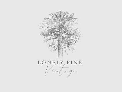 Lonely Pine Vintage Logo design logo typography logo design branding