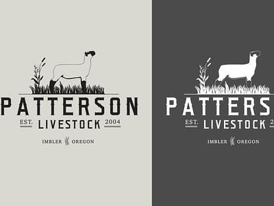 Patterson Livestock Logos web print design logo logo design design typography branding