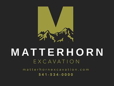 Matterhorn Branding print design logo web logo design design typography branding