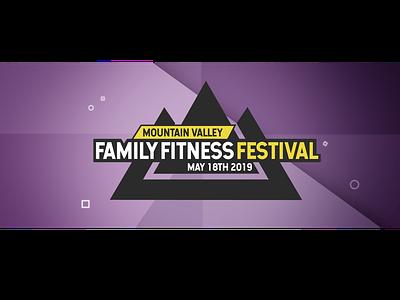 Family Fitness Festival header design ux web logo design branding typography