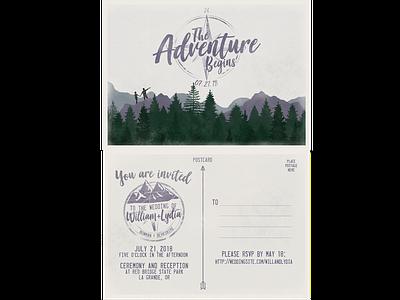 Custom Wedding Postcard graphic design design print design wedding invitation branding illustration typography