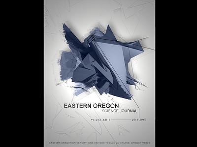 Eastern Oregon Science Journal Cover Design 3d design 3d art illustration graphic design print design branding design typography